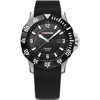 Ceasuri & Bijuterii Bărbați Ceasuri Analogice Wenger 01.0641.132, Quartz, 43mm, 20ATM Argintiu