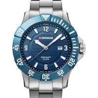 Ceasuri & Bijuterii Bărbați Ceasuri Analogice Wenger 01.0641.133, Quartz, 43mm, 20ATM Argintiu