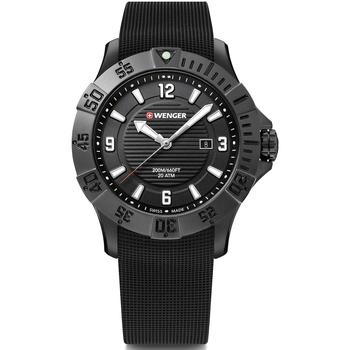 Ceasuri & Bijuterii Bărbați Ceasuri Analogice Wenger 01.0641.134, Quartz, 43mm, 20ATM Negru