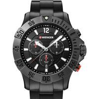 Ceasuri & Bijuterii Bărbați Ceasuri Analogice Wenger 01.0643.121, Quartz, 43mm, 20ATM Negru