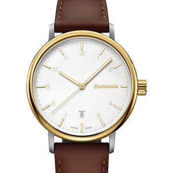 Ceasuri & Bijuterii Bărbați Ceasuri Analogice Wenger 01.1731.118, Quartz, 40mm, 10ATM Auriu