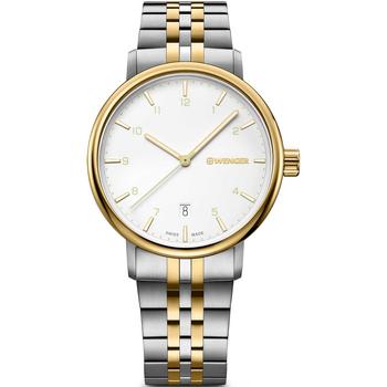 Ceasuri & Bijuterii Bărbați Ceasuri Analogice Wenger 01.1731.122, Quartz, 40mm, 10ATM Auriu