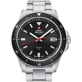 Ceasuri & Bijuterii Bărbați Ceasuri Analogice Swiss Military By Chrono SM34082.01, Quartz, 42mm, 5ATM Argintiu