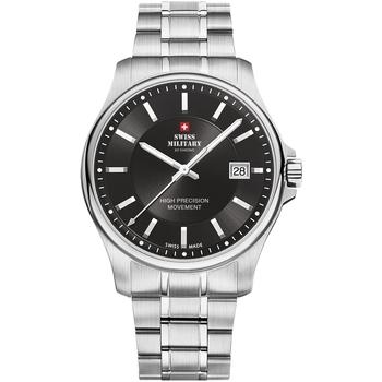 Ceasuri & Bijuterii Bărbați Ceasuri Analogice Swiss Military By Chrono SM30200.01, Quartz, 39mm, 5ATM Argintiu