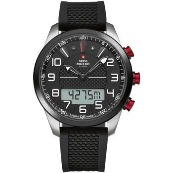Ceasuri & Bijuterii Bărbați Cesuri Analogic- digital Swiss Military By Chrono SM34061.01, Quartz, 45mm, 10ATM Argintiu