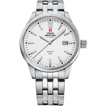 Ceasuri & Bijuterii Bărbați Ceasuri Analogice Swiss Military By Chrono SMP36009.02, Quartz, 41mm, 5ATM Argintiu