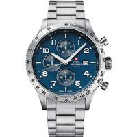 Ceasuri & Bijuterii Bărbați Ceasuri Analogice Swiss Military By Chrono SM34084.02, Quartz, 42mm, 10ATM Argintiu