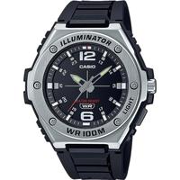 Ceasuri & Bijuterii Bărbați Ceasuri Analogice Casio MWA-100H-1AVEF, Quartz, 50mm, 10ATM Argintiu