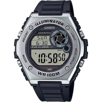 Ceasuri & Bijuterii Bărbați Ceasuri Digitale Casio MWD-100H-1AVEF, Quartz, 50mm, 10ATM Argintiu