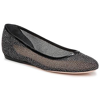 Pantofi Femei Balerin și Balerini cu curea Sebastian GLIME Negru