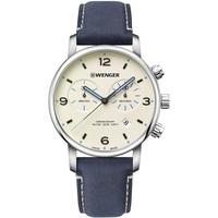 Ceasuri & Bijuterii Bărbați Ceasuri Analogice Wenger 01.1743.119, Quartz, 44mm, 10ATM Argintiu