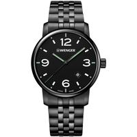 Ceasuri & Bijuterii Bărbați Ceasuri Analogice Wenger 01.1741.119, Quartz, 42mm, 10ATM Negru