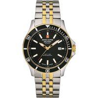 Ceasuri & Bijuterii Bărbați Ceasuri Analogice Swiss Alpine Military 7022.1147, Quartz, 42mm, 10ATM Argintiu