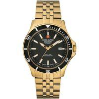 Ceasuri & Bijuterii Bărbați Ceasuri Analogice Swiss Alpine Military 7022.1117, Quartz, 42mm, 10ATM Auriu