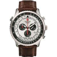 Ceasuri & Bijuterii Bărbați Ceasuri Analogice Swiss Alpine Military 7078.9532, Quartz, 46mm, 10ATM Argintiu
