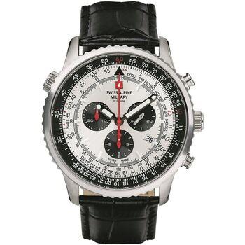 Ceasuri & Bijuterii Bărbați Ceasuri Analogice Swiss Alpine Military 7078.9538, Quartz, 46mm, 10ATM Argintiu