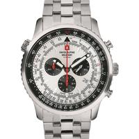 Ceasuri & Bijuterii Bărbați Ceasuri Analogice Swiss Alpine Military 70.789.132, Quartz, 45mm, 10ATM Argintiu