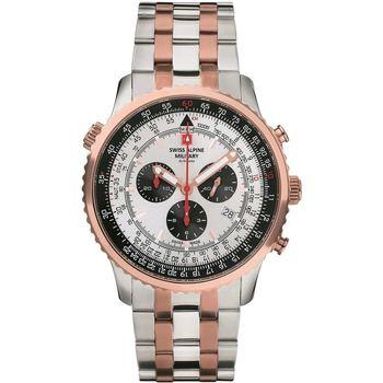 Ceasuri & Bijuterii Bărbați Ceasuri Analogice Swiss Alpine Military 7078.9152, Quartz, 46mm, 10ATM Auriu