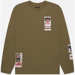 Îmbracaminte Bărbați Tricouri & Tricouri Polo Edwin T-shirt manches longues  Tarot Deck II vert olive