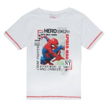 Îmbracaminte Băieți Tricouri mânecă scurtă TEAM HEROES  SPIDERMAN TEE Alb