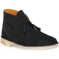 Pantofi Bărbați Ghete Clarks DESERT BOOT BLKCOM Nero
