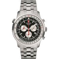 Ceasuri & Bijuterii Bărbați Ceasuri Analogice Swiss Alpine Military 7078.9137, Quartz, 46mm, 10ATM Argintiu