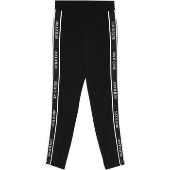 Îmbracaminte Femei Pantaloni de trening Sixth June Legging  bande imprimée noir/blanc