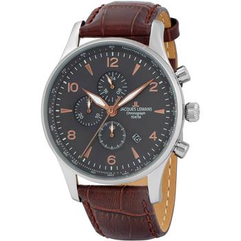 Ceasuri & Bijuterii Bărbați Ceasuri Analogice Jacques Lemans 1-1844ZK, Quartz, 44mm, 10ATM Argintiu