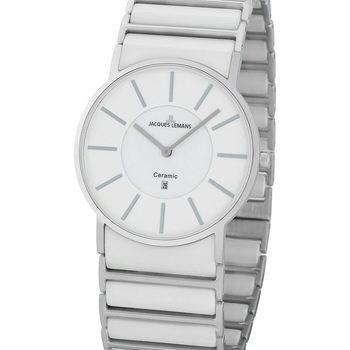 Ceasuri & Bijuterii Bărbați Ceasuri Analogice Jacques Lemans 1-1648E, Quartz, 39mm, 5ATM Argintiu