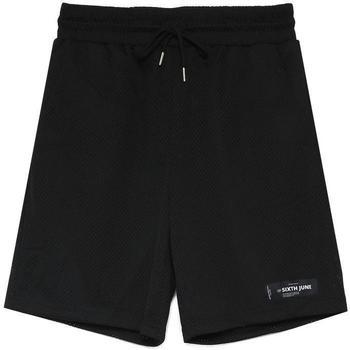 Îmbracaminte Bărbați Pantaloni scurti și Bermuda Sixth June Short  Mesh Logo noir
