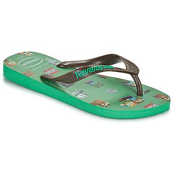 Pantofi Băieți  Flip-Flops Havaianas KIDS MINECRAFT Verde