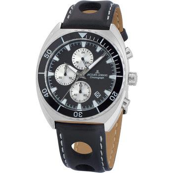 Ceasuri & Bijuterii Bărbați Ceasuri Analogice Jacques Lemans 1-2041A, Quartz, 40mm, 10ATM Argintiu