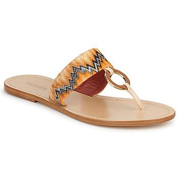 Pantofi Femei  Flip-Flops Missoni VM048 Portocaliu
