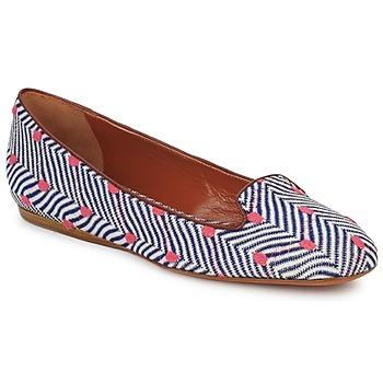 Pantofi Femei Mocasini Missoni VM036 Albastru / Roz