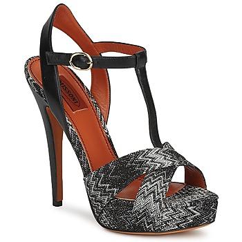 Pantofi Femei Sandale  Missoni VM034 Negru / Alb