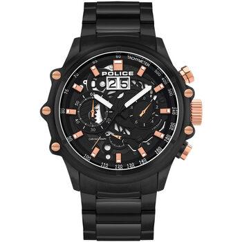 Ceasuri & Bijuterii Bărbați Ceasuri Analogice Police PL16018JSB.02M, Quartz, 48mm, 10ATM Negru