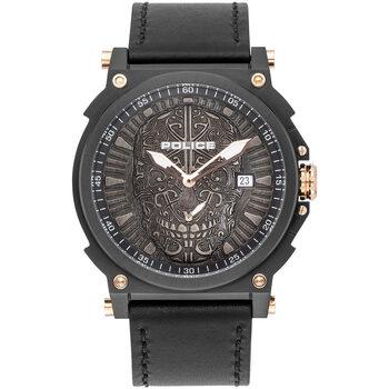 Ceasuri & Bijuterii Bărbați Ceasuri Analogice Police PL15728JSB.02, Quartz, 48mm, 3ATM Negru