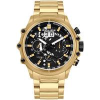 Ceasuri & Bijuterii Bărbați Ceasuri Analogice Police PL16018JSG.02M, Quartz, 48mm, 10ATM Auriu