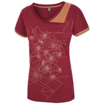 Îmbracaminte Femei Tricouri mânecă scurtă Salewa 251661651 Culoare de vișină