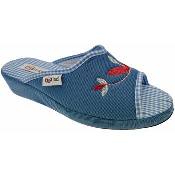 Pantofi Femei Papuci de vară Cristina CRI51avio blu