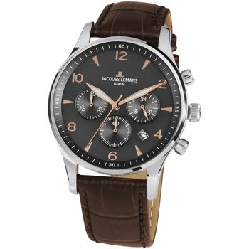 Ceasuri & Bijuterii Bărbați Ceasuri Analogice Jacques Lemans 1-1654ZK, Quartz, 40mm, 10ATM Argintiu