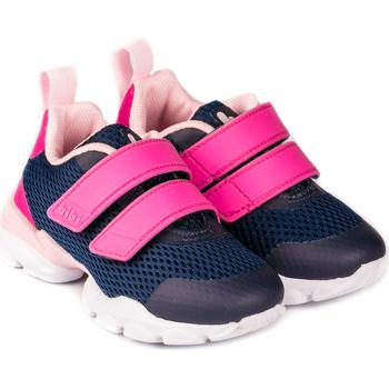 Pantofi Fete Sneakers Bibi Shoes Pantofi Sport Fete BIBI Drop New Naval/Pink Bleumarin