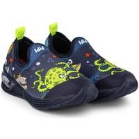 Pantofi Băieți Sneakers Bibi Shoes Pantofi Baieti LED Bibi Space Wave 2.0 Marine Bleumarin