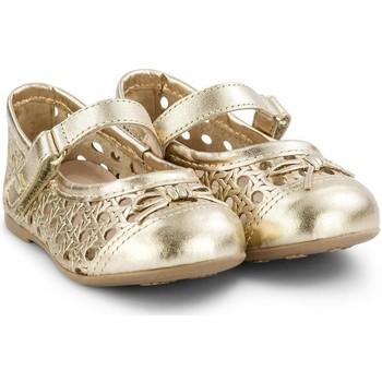 Pantofi Fete Balerin și Balerini cu curea Bibi Shoes Balerini Fete BIBI Anjos Mini Gold Perforati Auriu