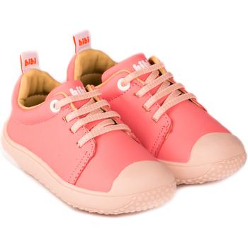 Pantofi Fete Pantofi sport Casual Bibi Shoes Pantofi Fete Bibi Prewalker Cherry cu Siret Elastic Roz
