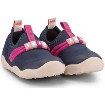 Pantofi Fete Botoșei bebelusi Bibi Shoes Pantofi Fete Bibi FisioFlex 4.0 Naval/Hot Pink Bleumarin