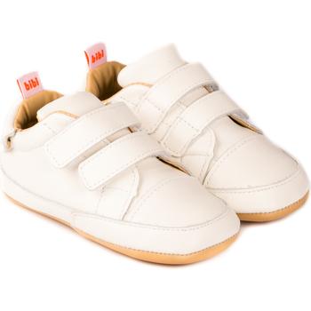Pantofi Fete Pantofi sport Casual Bibi Shoes Pantofi Unisex Bibi Afeto Joy Albi cu Velcro Bleumarin
