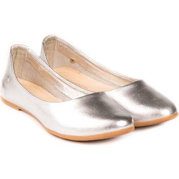 Pantofi Fete Balerin și Balerini cu curea Bibi Shoes Balerini Fete BIBI Renascence Kids Silver Argintiu