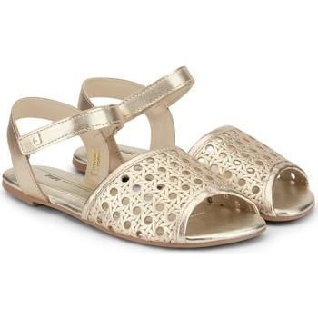 Pantofi Fete Sandale  Bibi Shoes Sandale Fete BIBI Little Me Gold Auriu