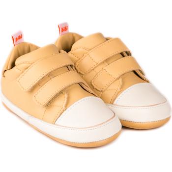 Pantofi Fete Pantofi sport Casual Bibi Shoes Pantofi Unisex Bibi Afeto Joy Nude cu Velcro Crem